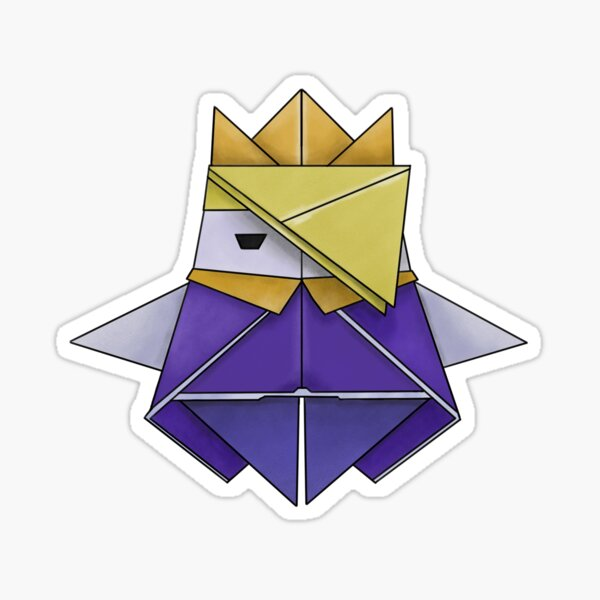 Olly the Origami King Sticker