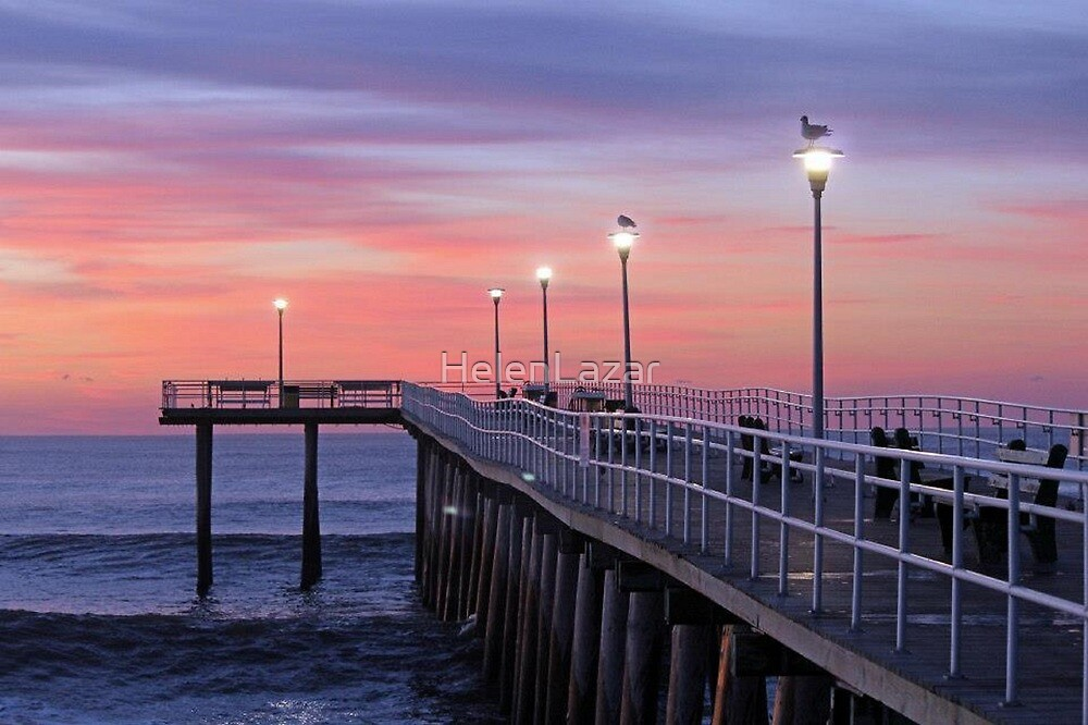 The Pier at Sunrise by HelenLazar