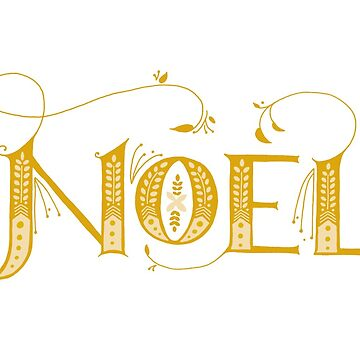 Hand-lettered Noel by arguellm