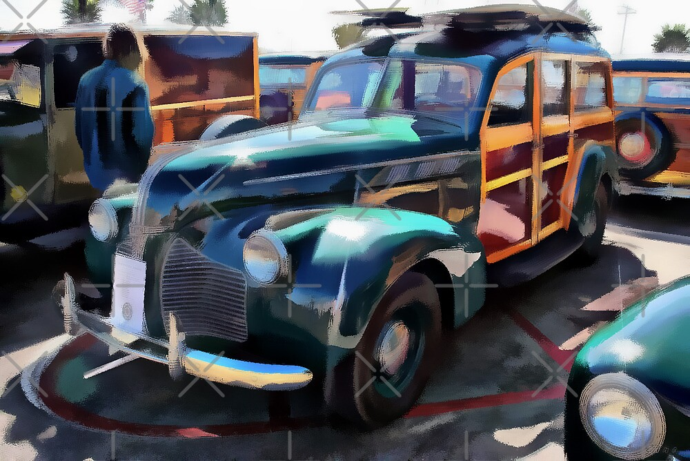 Woody Classic Car Art by Delights