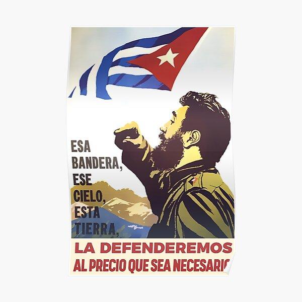 Classic Cuban Propaganda Poster Poster