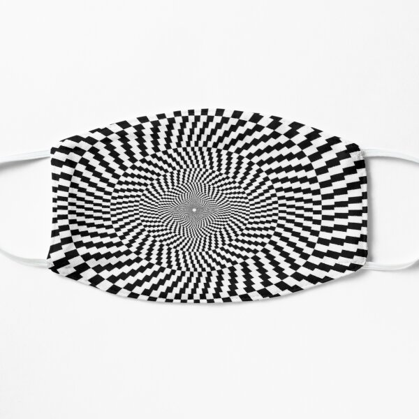 Optical Illusion, Visual Illusion, Physical Illusion, Physiological Illusion, Cognitive Illusions Flat Mask