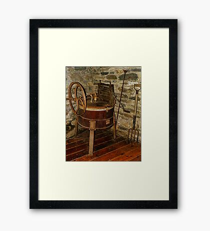 Gomez Mill House Outbuilding with Washing Machine Framed Print