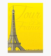 Tour De France Eiffel Tower Photographic Print
