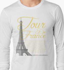 Tour De France Eiffel Tower Long Sleeve T-Shirt