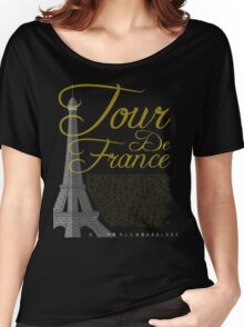 Tour De France Eiffel Tower Women's Relaxed Fit T-Shirt