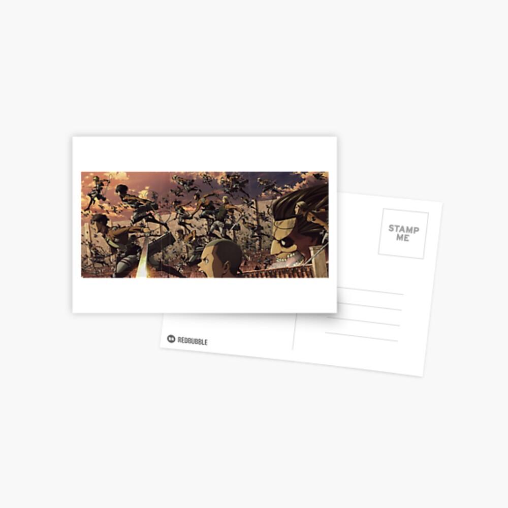 Attack on Titan Ultra 8k Wallpaper Highest Print Quality Postcard