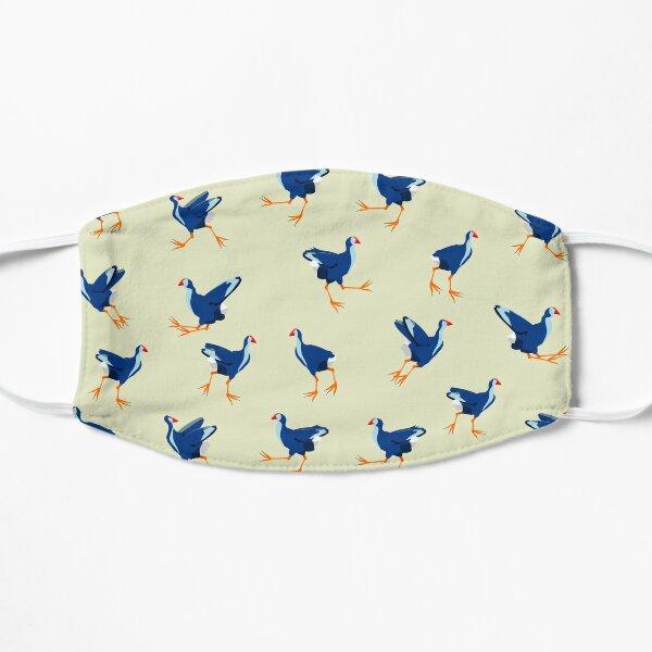 Pukeko swamp hen pattern Flat Mask
