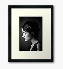 Rose Byrne - lovely serious - 2000 Framed Print