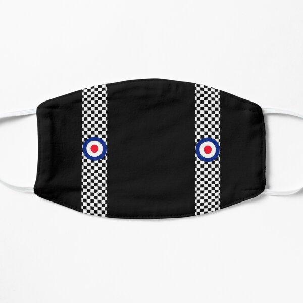 Classic Target Roundel Racing Checkers Flat Mask