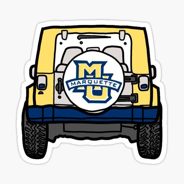 Marquette University Jeep Sticker