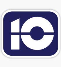 10 Mid 80's Logo Sticker