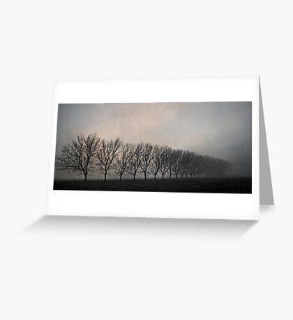 One Foggy Morning Greeting Card