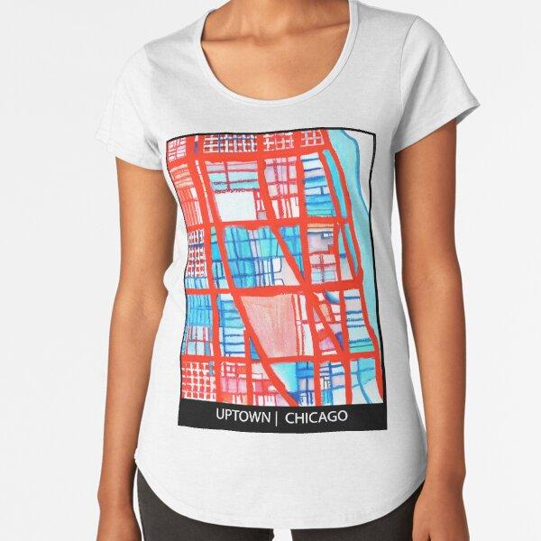 Uptown Chicago Premium Scoop T-Shirt