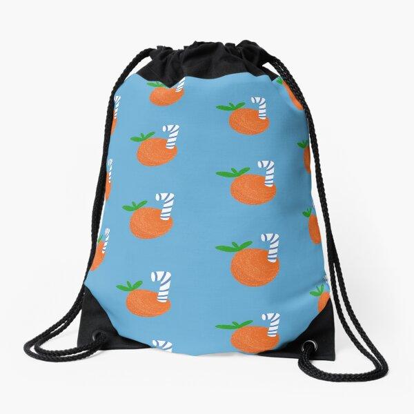 An Orange  Drawstring Bag
