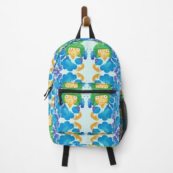 Orange Head Pattern Backpack