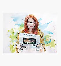 Doctor Who: Pond in the park Photographic Print