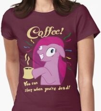 Coffee! Pinkie Pie Women's Fitted T-Shirt