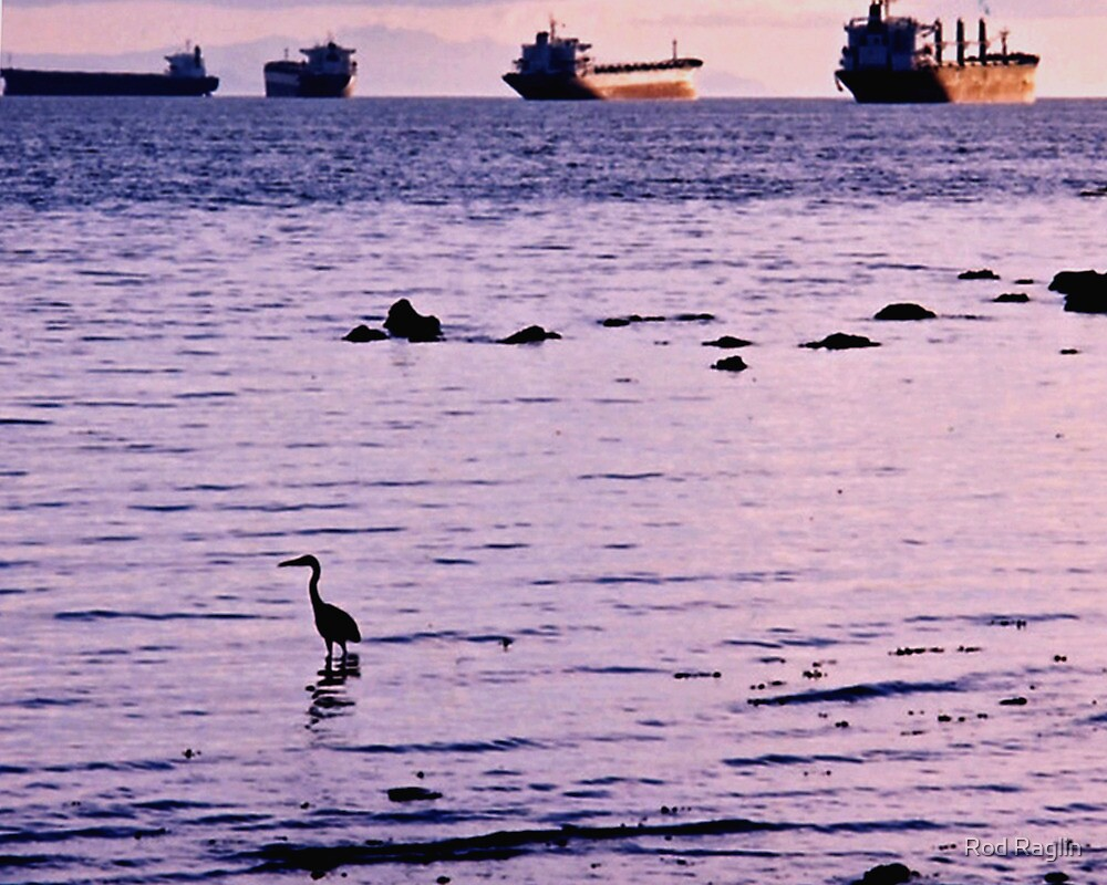 Second Beach Sunset by Rod Raglin