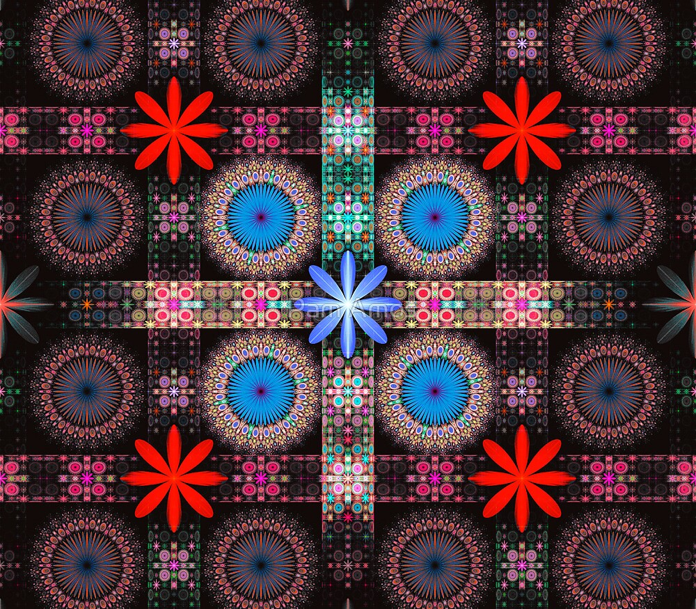 Flower Tile Grid by Pam Amos