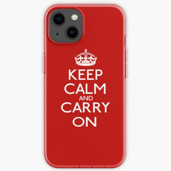 Keep Calm And Carry On iPhone Soft Case