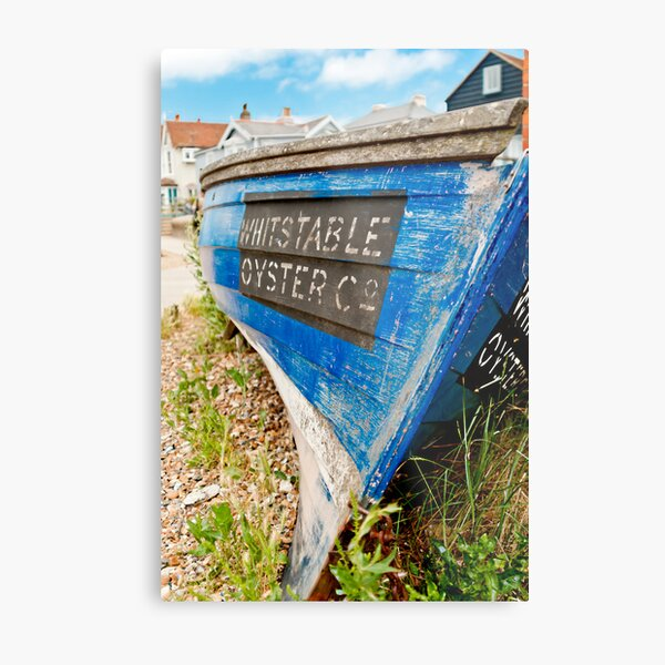 Whitstable Oyster Boat Metal Print