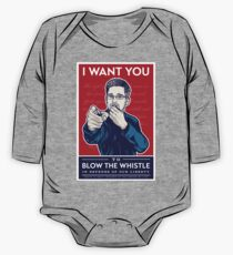 Edward Snowden I Want You One Piece - Long Sleeve