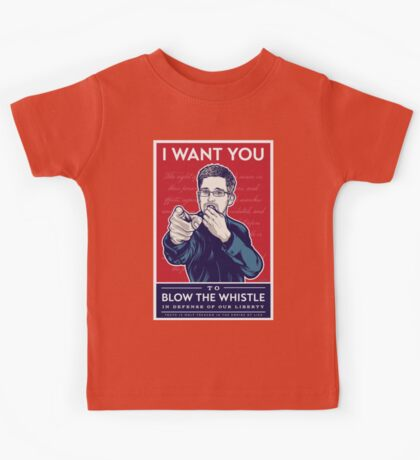 Edward Snowden I Want You Kids Clothes