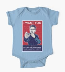 Edward Snowden I Want You One Piece - Short Sleeve