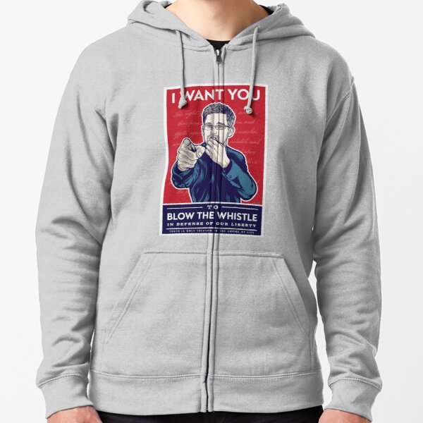 Edward Snowden I Want You Zipped Hoodie