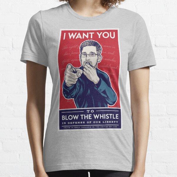 Edward Snowden I Want You Essential T-Shirt