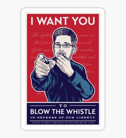 Edward Snowden I Want You Sticker