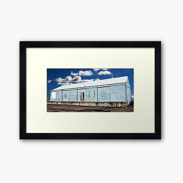 Wharf on Clouds Framed Art Print