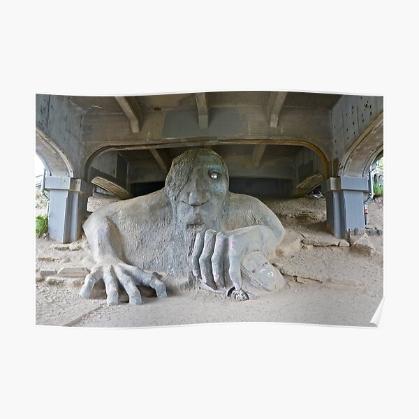 The Fremont Troll, Seattle, WA Poster