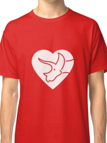 Dinosaur heart: Triceratops Classic T-Shirt