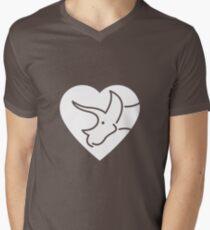 Dinosaur heart: Triceratops Men's V-Neck T-Shirt