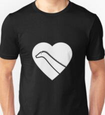 Dinosaur heart: Diplodocus Unisex T-Shirt