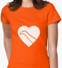 Dinosaur heart: Diplodocus Women's Fitted T-Shirt