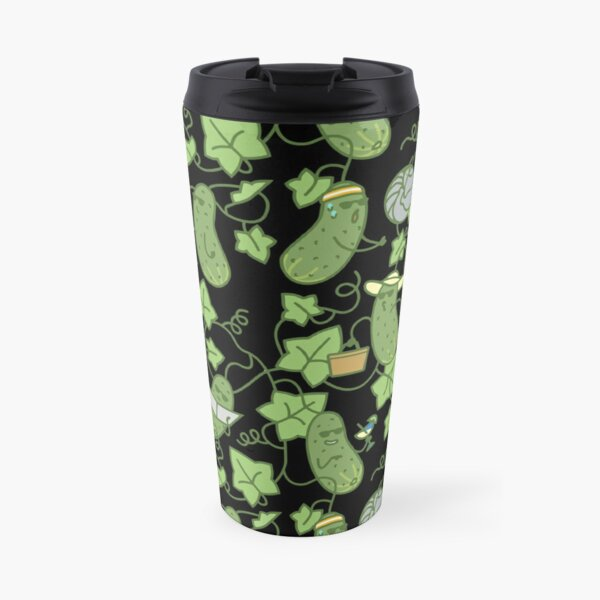 Cucumber Summer Dark Travel Mug