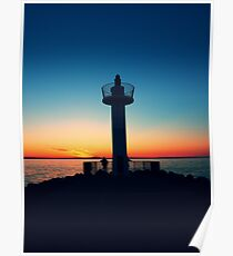 Summer Sunset at Howth Poster