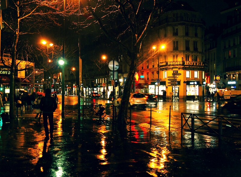 Quot Rainy Night In Paris Quot Posters By Patrick Horgan Redbubble