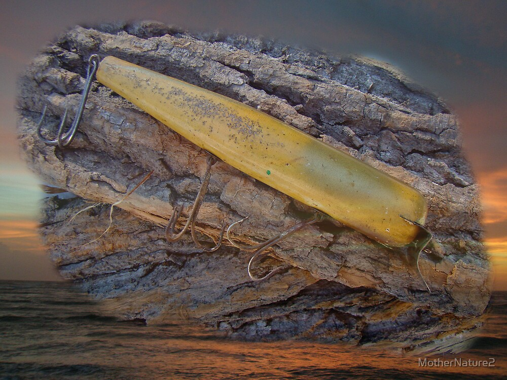 Vintage Atom Wooden Fishing Lure - Saltwater by MotherNature2