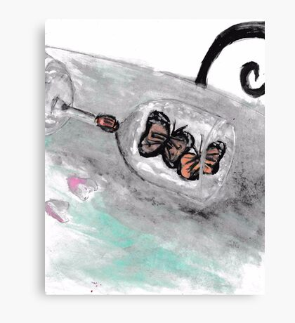 Butterfly Glass Canvas Print