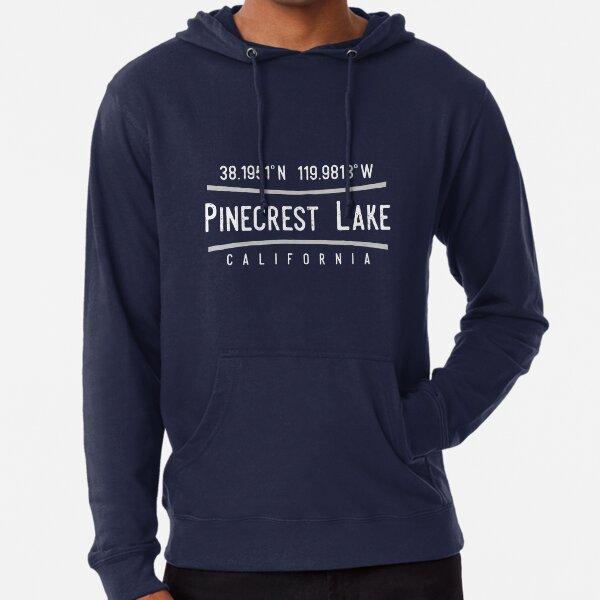 Pinecrest Lake, California Coordinates Lightweight Hoodie