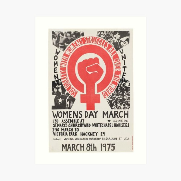 Womens day march Art Print