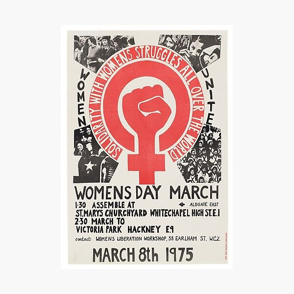 Womens day march Photographic Print