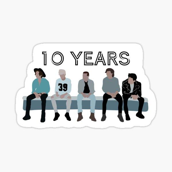 Aniversario de 10 años de One Direction Pegatina