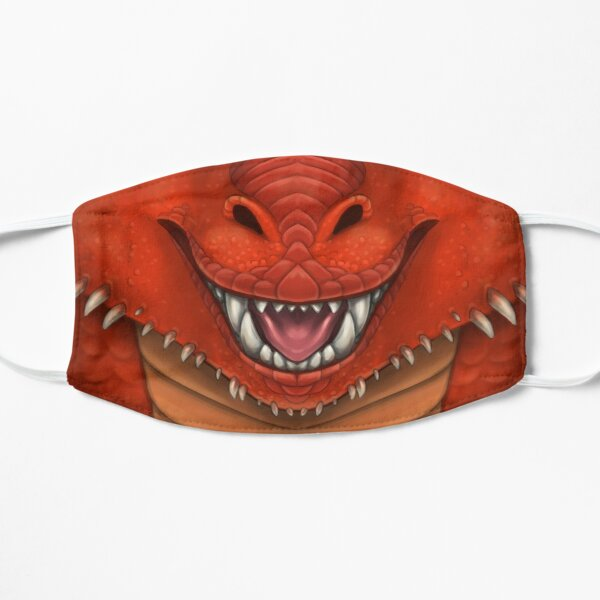 Red Dragon Face Flat Mask