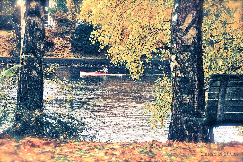 Kayak in Autumn by Satom M Chhim