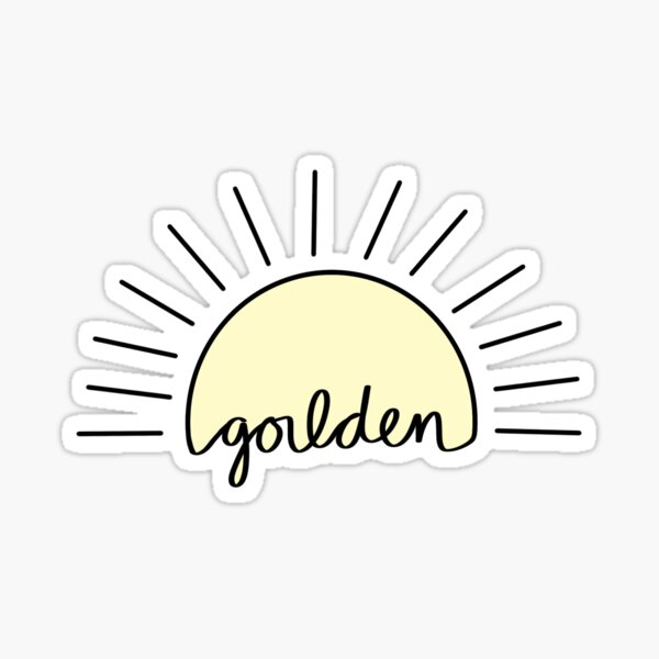 Golden Sun Sticker